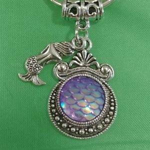 Mermaid scales key ring